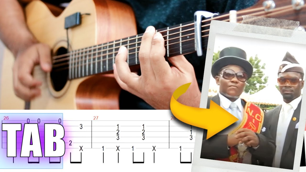 Astronomia Coffin Dance Meme Guitar Tutorial Tab Fingerstyle