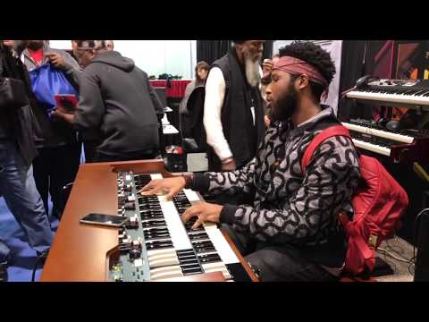 Cory Henry plays the Hammond XK5