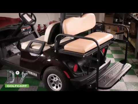 Yamaha Drive 2 Golf Cart Rear Seat Kit Installation How To