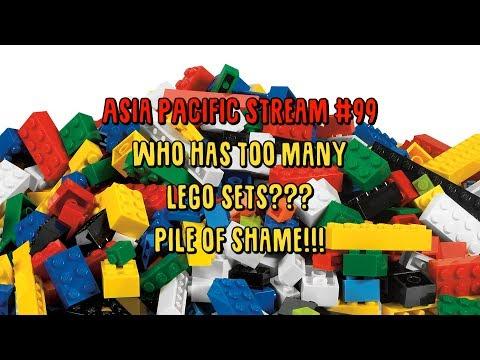 LEGO AP Stream 99, Who has TOO MANY LEGO SETS? Pile Of LEGO Shame?????