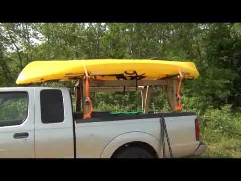 DIY kayak truck rack - YouTube
