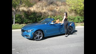 "2018 BMW 430i Convertible in Snapper Rocks Blue / Exhaust Sound / 19"" Bi-color wheels / BMW Review"