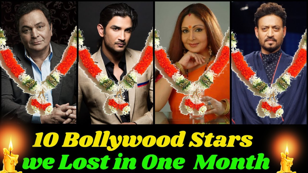 Download 10 Bollywood Stars We Have Lost in Just One Month | Sushant Singh Rajput, Rishi Kapoor, Irrfan Khan