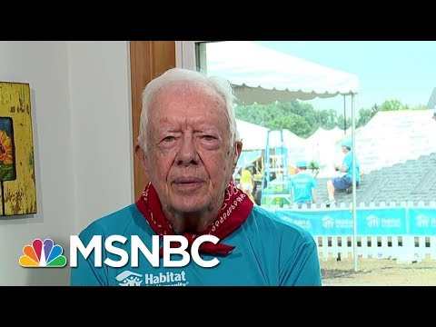 Pres. Carter: Trump's 'Serious Mistake' Refusing To Lower Flag For McCain | Andrea Mitchell | MSNBC