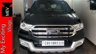 FORD ENDEAVOUR 2017 TOP MODEL FOR SALE  | SINGLE CAR DETAILED REVIEW | FULL FEATURES EXPLAINED ..