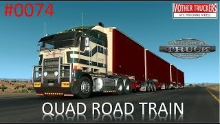 American Truck Simulator #0074 QUAD ROAD TRAIN