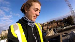 Climbing the Park Street Crane, Bristol