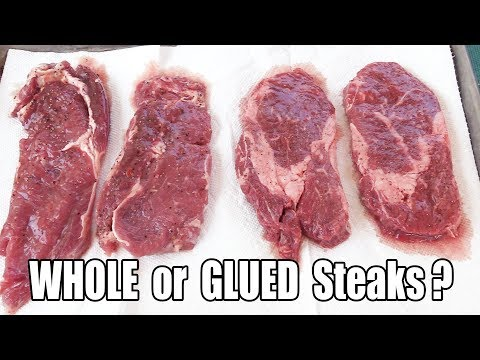 Are My Pre-Packaged Steaks WHOLE Or MEAT GLUED?? - WHAT ARE WE EATING?? - The Wolfe Pit