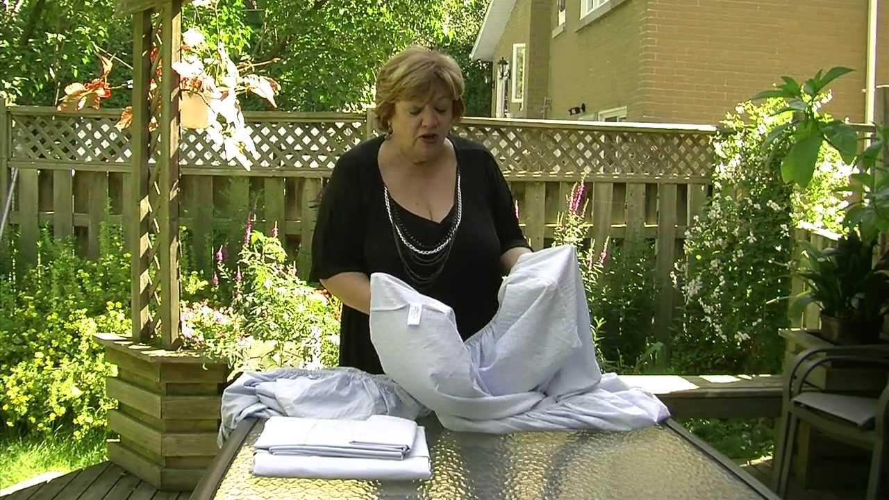 journ e de lessive avec madame chasse taches le pliage des draps contour youtube. Black Bedroom Furniture Sets. Home Design Ideas