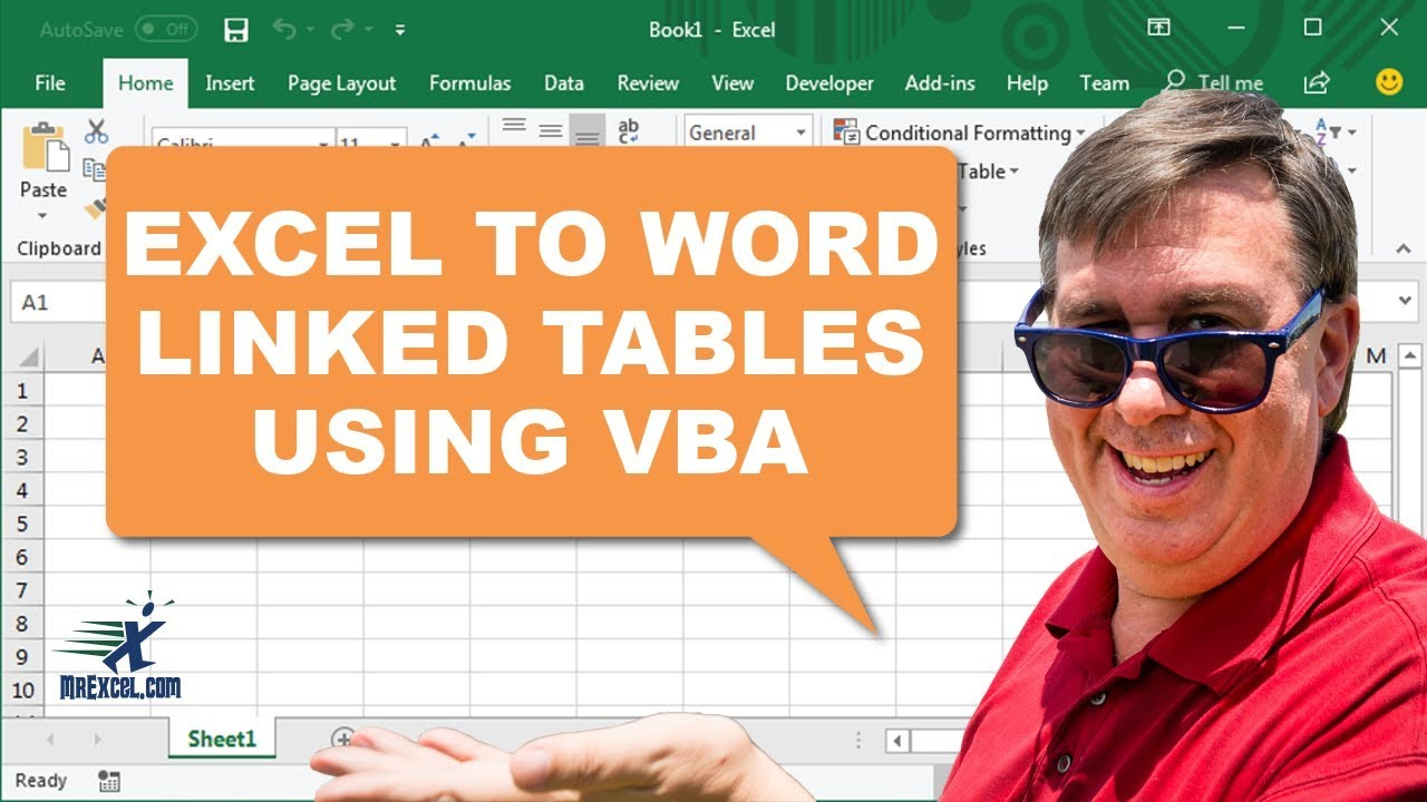 Excel To Word Using VBA - Learn Excel 2284