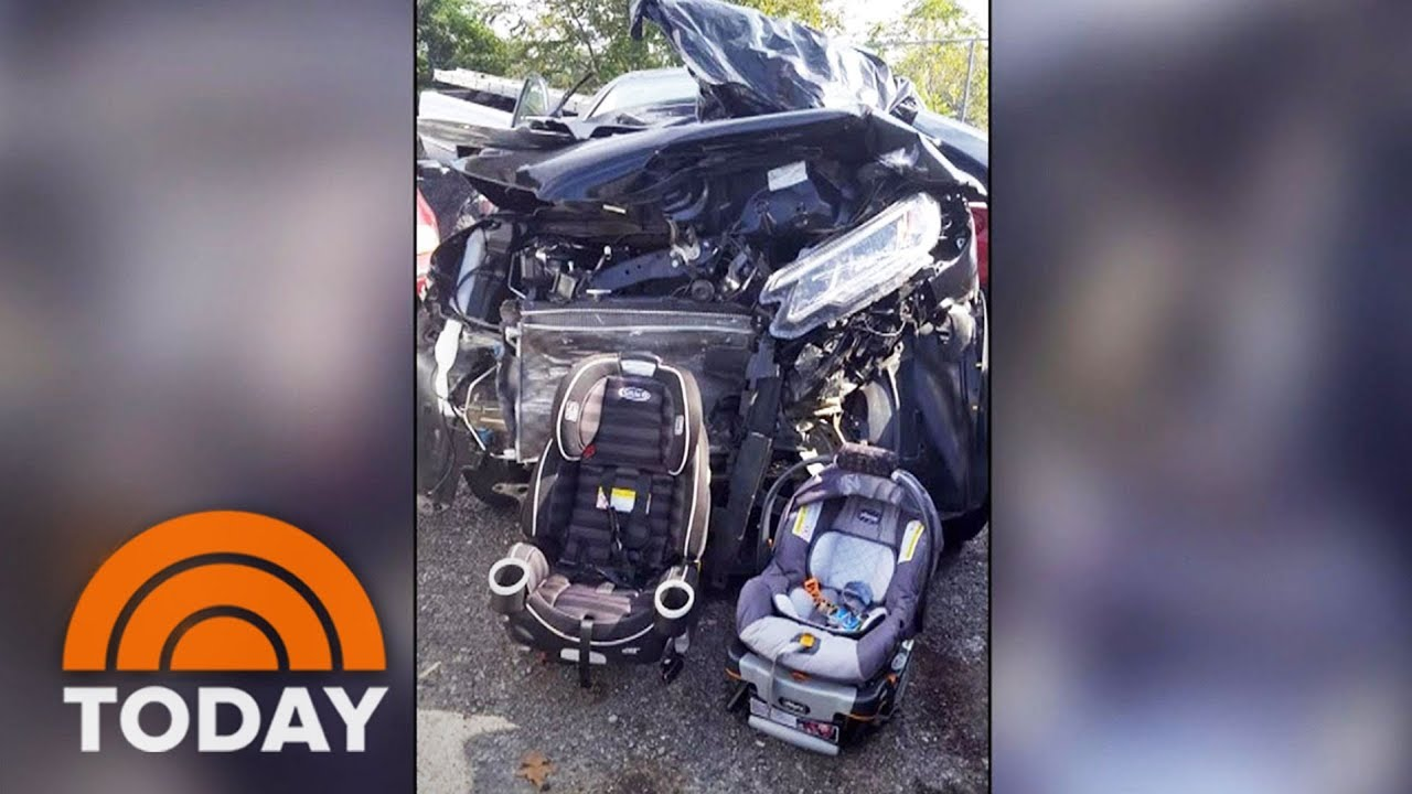 Car Crash Mom's Viral Photo After Crash Shows Why Kids' Car Seats