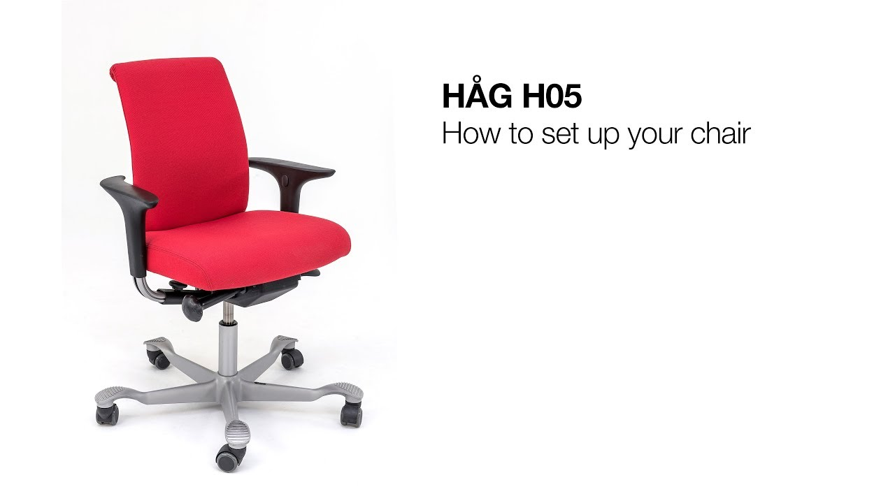 Hag H05 How To Set Up Your Chair Youtube
