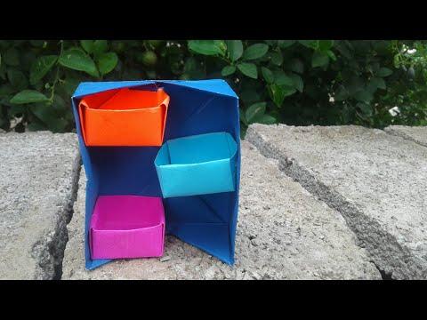 DIY secret stepper box || Idea'sCraft || mini Box || Table Box || paper hacks