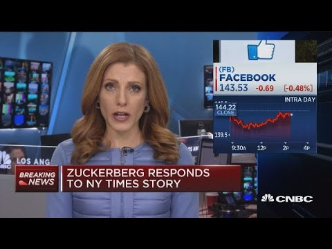 Facebook CEO Mark Zuckerberg responds to NYT story