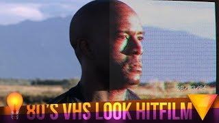 80s VHS Look Free (No Plugins) - Hitfilm Express Tutorial