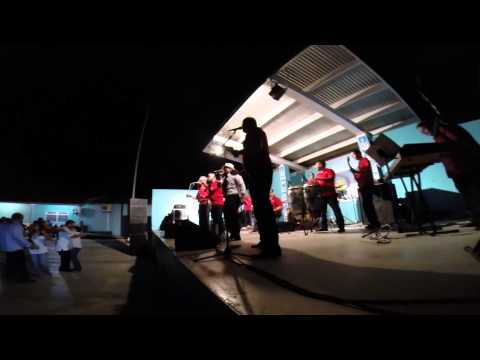 Orquesta Simplemente Pabo performing at the Battle of the Bands in Aruba