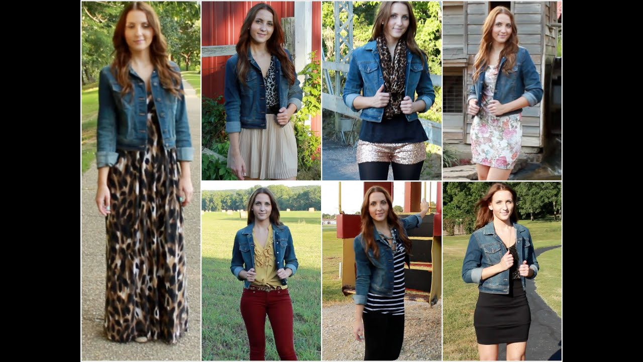 ♡ 7 Ways to Style a Denim Jacket ♡ - YouTube