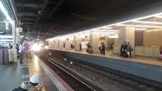 JR西日本大阪駅で113系団体列車の発車シーン(2019年11月10日日曜日)携帯電話で撮影