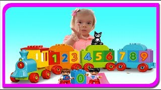 Invatam cifrele cu trenutul LEGO. Anabella Show