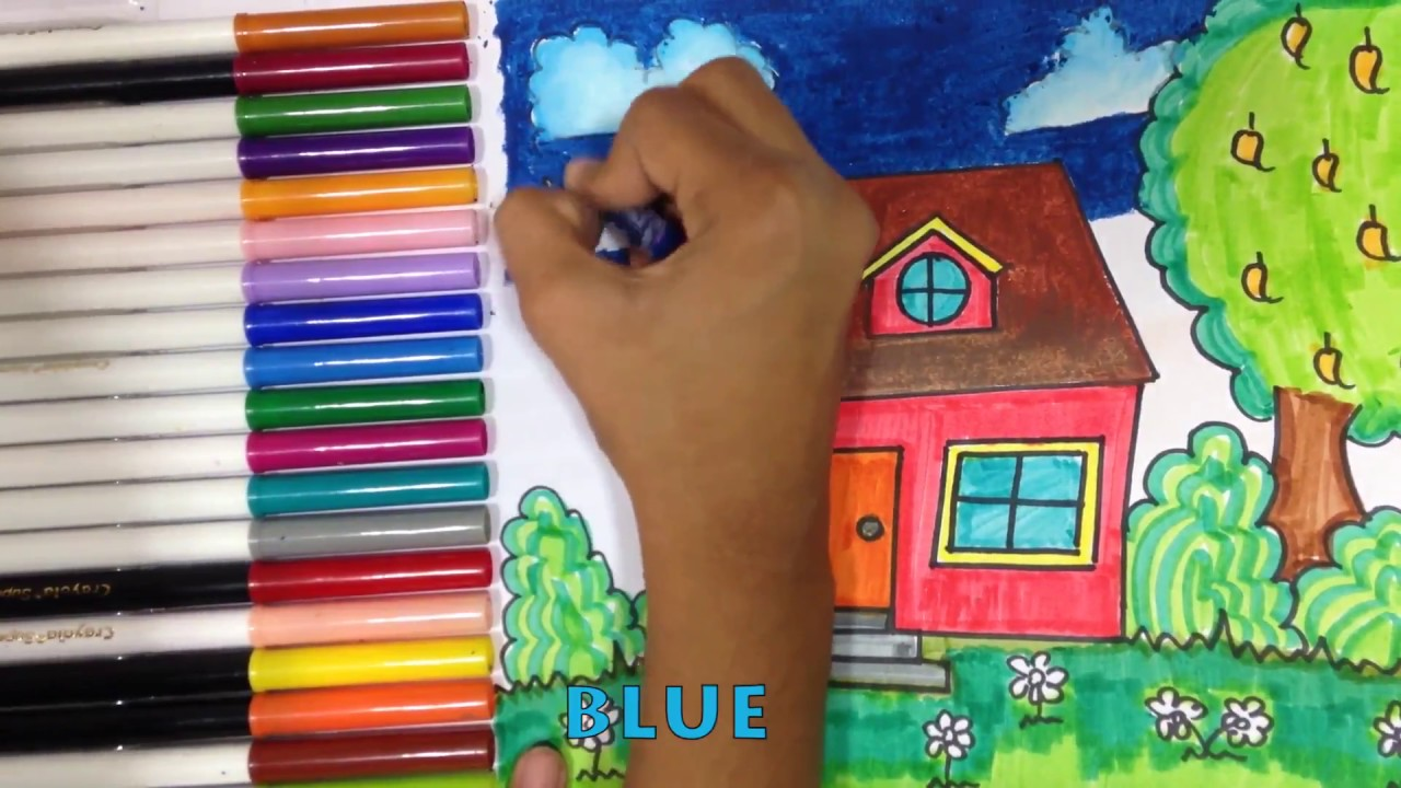 How to Draw Cute House Draw For Fun Art Colours for Kids with