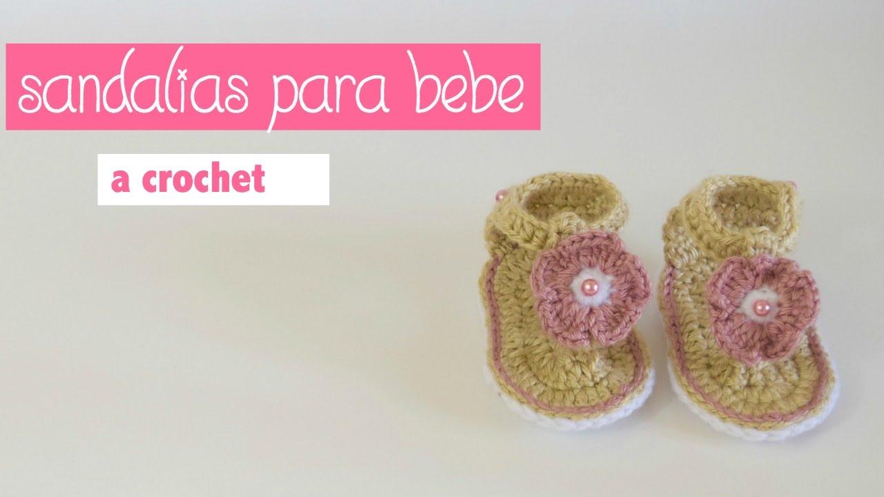 edf9ea7b5 COMO TEJER SANDALIAS PARA BEBES DE 0 A 3 MESES  HOW TO CROCHET SANDALS FOR  BABIES - YouTube