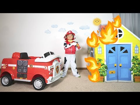Paw Patrol Marshall Fire Truck Ride-On Toy Pretend Play to the Rescue!