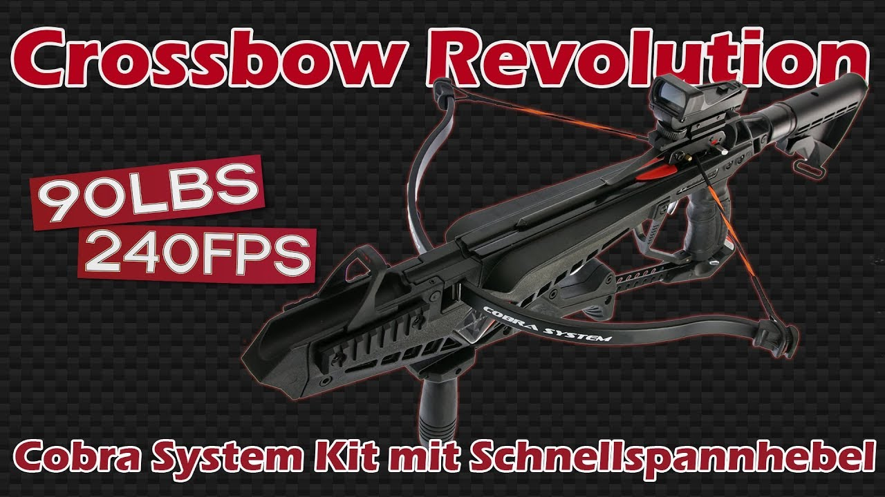 Crossbow Revolution - Cobra System Kit mit Schnellspannhebel