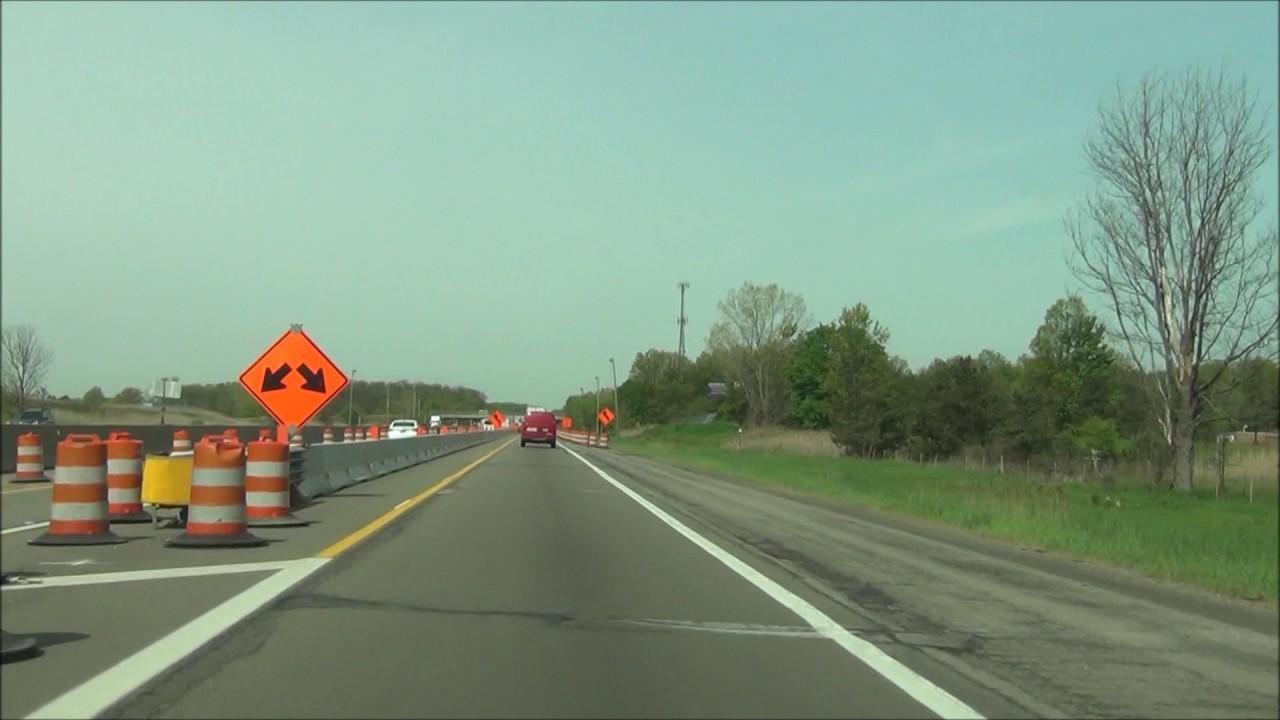 Ohio - Interstate 80 West (Ohio Turnpike) - Mile Marker 160 to 142