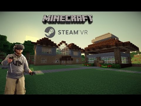 Minecraft HTC Vive | Opening a door in VR