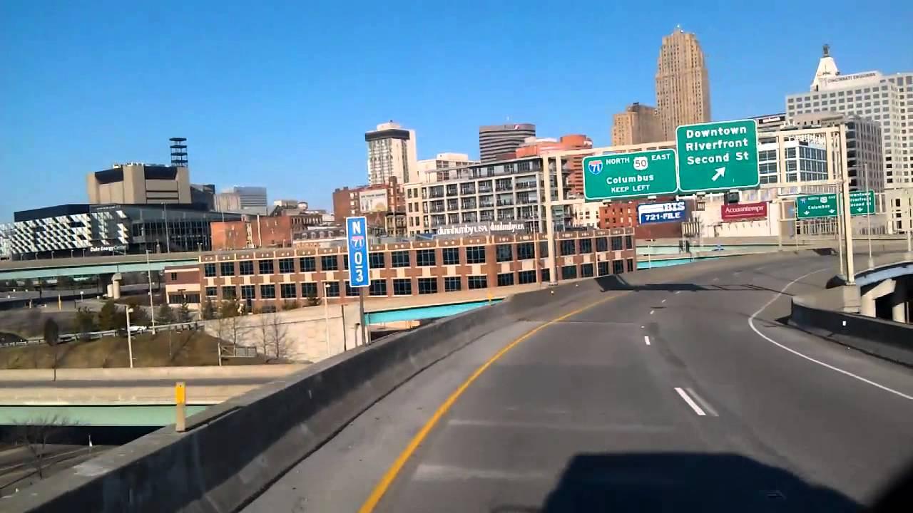 Interstate 75 North as we roll into downtown Cincinnati