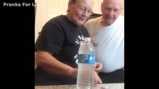 Prank Husband with coin Bottle trick grandma performs