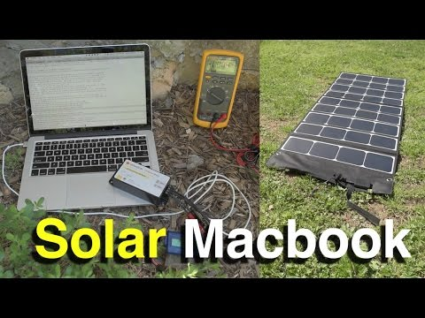 DIY Solar Macbook Pro Retina Charger