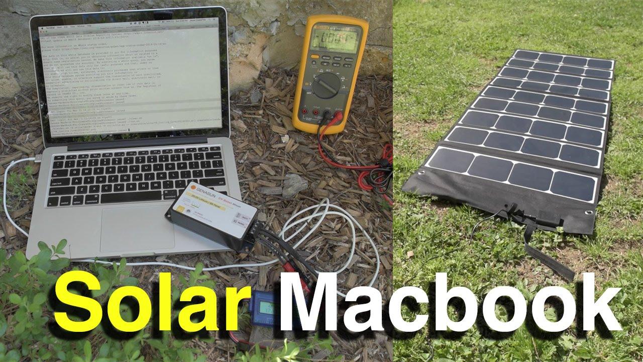 DIY Solar Macbook Pro Retina Charger