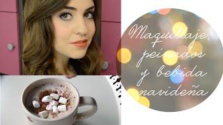 Maquillaje, peinados y bebida navideña | Get ready with me Thumbnail