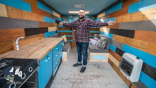 Spacious Stealth Tiny House on Wheels // Moving Truck Converted into Tiny home. Van Life Tour