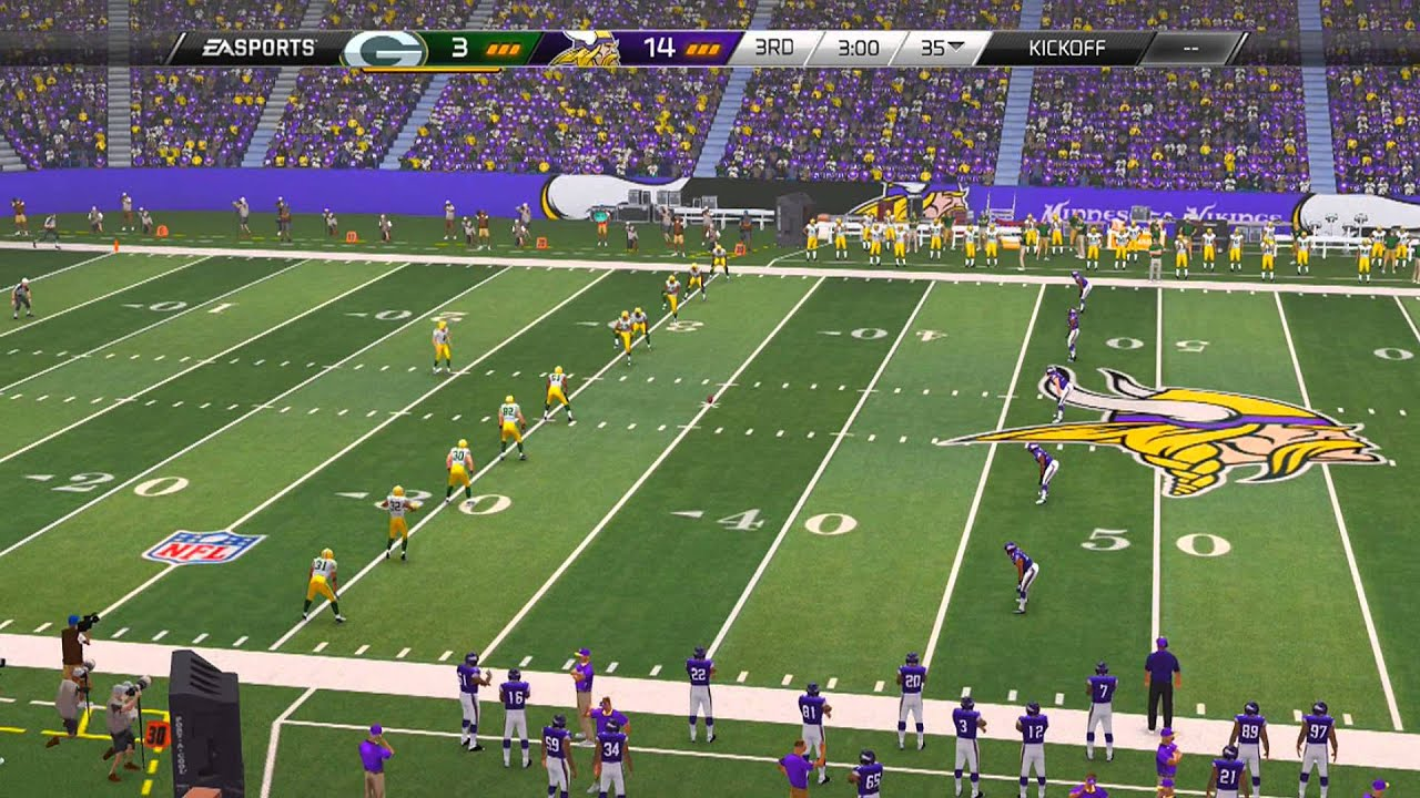 Madden NFL 25 Playstation 4 Gameplay! PS4 Vikings vs Packers 1080p HD  YouTube