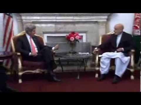 Kerry Meets Karzai in Kabul to Press For Security Deal