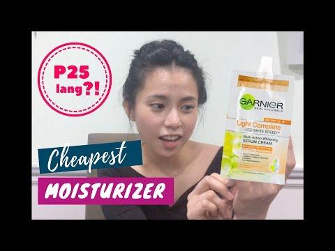 Review: GARNIER Light Complete Serum Cream | Cheapest Moisturizer?