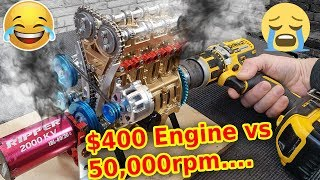 Download All Metal Model Engine vs 50,000 rpm - Will it survive?
