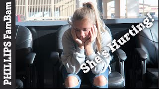 SHE'S HURTING | UNEXPECTED DOCTOR VISIT FOR PAINFUL INJURY | PHILLIPS FamBam Vlogs|