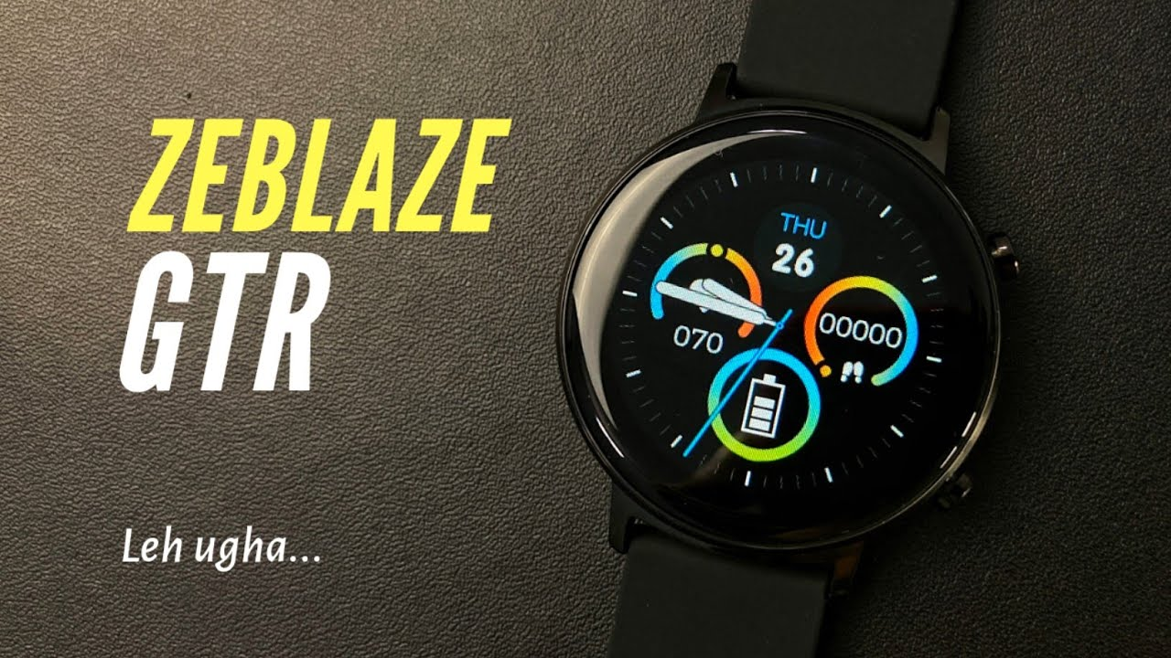 ZEBLAZE GTR SMART WATCH - Indonesia - Unboxing, Preview and Test