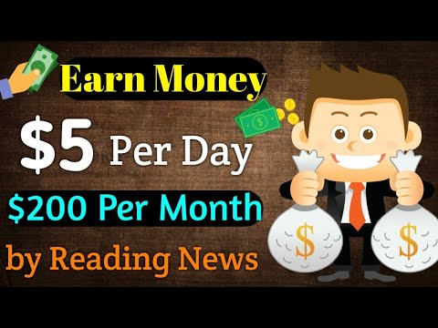 Earn $5 Per Day By Reading News $200 Per month || 100℅ Genuine App in [Hindi]