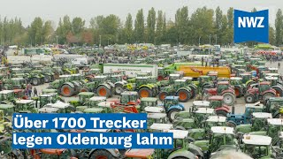 Agrardemo: Über 1700 Trecker legen Oldenburg lahm