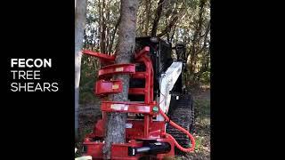 Fecon Tree Shears - Skid Steers and Excavators