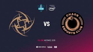 NiP vs Chaos Esports Club1, ESL One Katowice 2019, bo2, game 2, [Adekvat]
