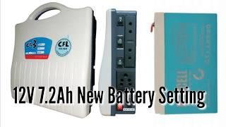 12V 7 2Ah New Battery Setting
