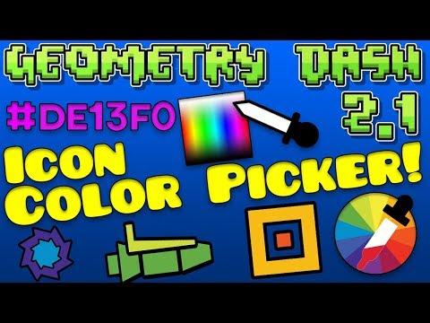 Geometry Dash Icon Colour Picker! [2.12 Steam]