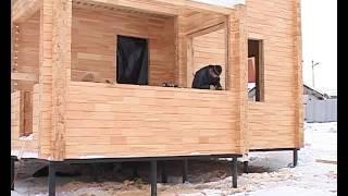 строительство дома из клееного бруса видео