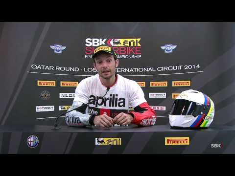 2014 WSBK Losail – Interview with Guintoli after Race 2 and title win