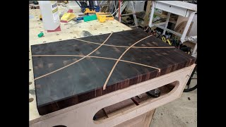 014 - End Grain Cutting Board with Inlay